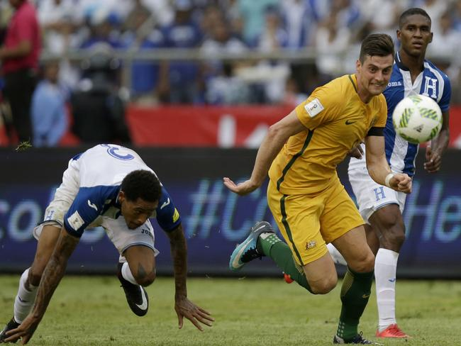 Tomi Juric had the Socceroos' two best chances.