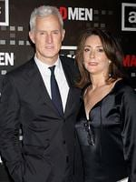 "Before she married Mad Men's John Slattery, Talia Balsam actually got Clooney down the aisle in Vegas in 1989. Sadly it wasn't to be and the pair were divorced in 1993. Clooney told Vanity Fair: ""I probably — definitely — wasn't someone who should have been married at that point."" Slattery and Balsam play former husband and wife Roger and. Mona Stirling in Mad Men. Picture: Getty"