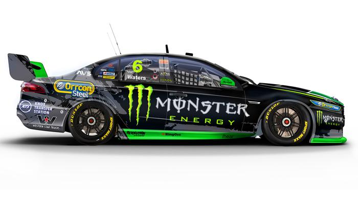 Cameron Waters' No. 6 Monster Energy Ford Falcon.