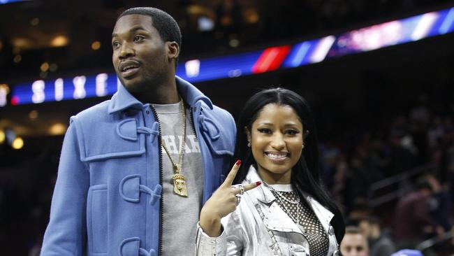Meek Mill and girlfriend Nicki Minaj. Picture: AP