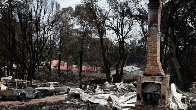 The township of Yarloop was devastated in January after a bushfire raging through it. Picture: Colin Murty