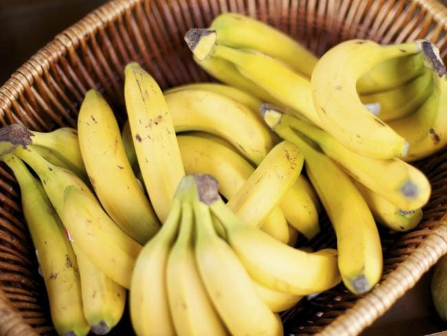 Bananas shouldn't be mixed when taking ACE inhibitors, which lower blood pressure and treat heart failure. Picture: iStock.