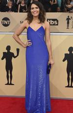 Mandy Moore arrives at the 24th annual Screen Actors Guild Awards at the Shrine Auditorium & Expo Hall on Sunday, Jan. 21, 2018, in Los Angeles. Picture: Jordan Strauss/Invision/AP