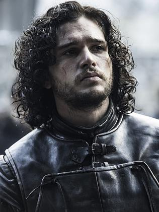 Bastard son ... Kit Harington as Jon Snow In Game Of Thrones.