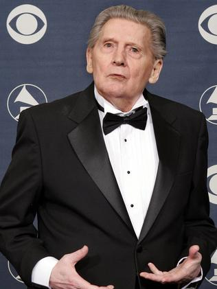 Jerry Lee Lewis after receiving a Lifetime Achievement Award at Grammy Awards in Los Angeles in 2005. Picture: Supplied