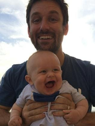 John O'Brien and baby son Jude / Picture: Facebook
