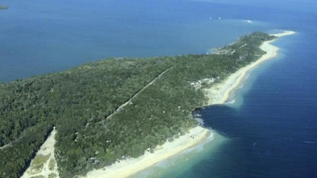 The Inskip Point sinkhole swallowed up 200x50m of the coast. Picture: AAP/Higgins Storm Chasing