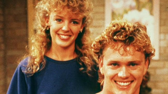 TV sweethearts ... Kylie Minogue and Craig McLachlan from Neighbours in 1988. Picture: Supplied.