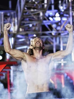 Isaac Caldiero when he became America's first ever Ninja Warrior.