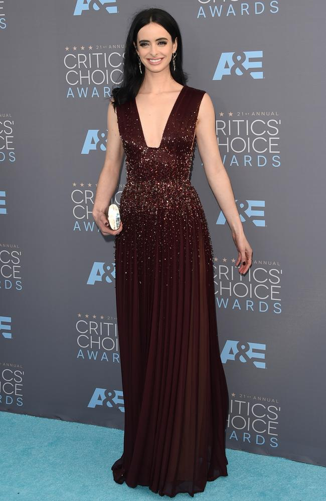 Krysten Ritter attends the 21st Annual Critics' Choice Awards on January 17, 2016 in California. Picture: Getty