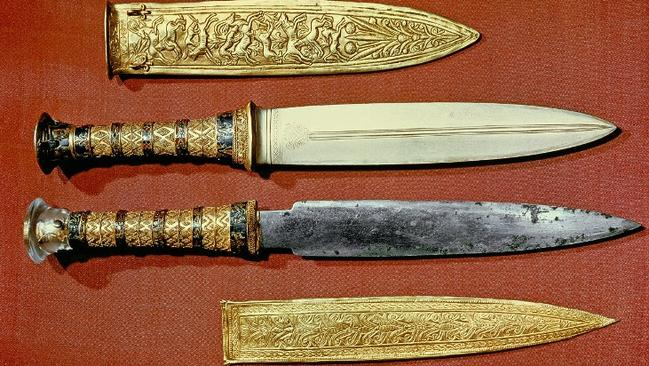 The king's two daggers, one with a blade of gold, the other of iron.