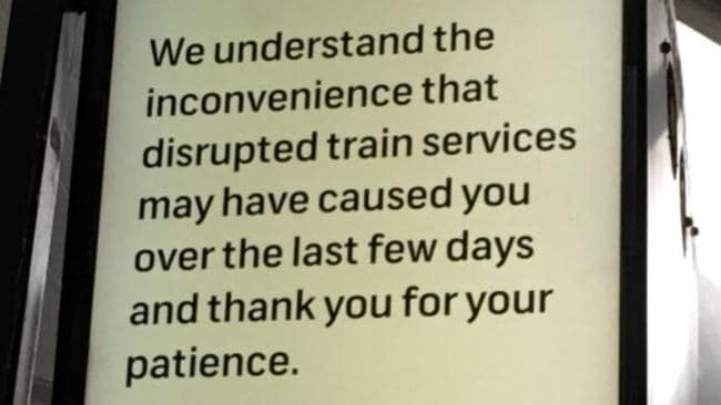 Transport chiefs have apologised for the disruption. Picture: Twitter/Suzy Hannaford