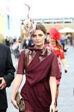 Name: Mischa Barton Score: 8/10 JC: A little too Middle Eastern. Even for the Emirates marquee. AH: Mischa might struggle to get acting gigs but she can pick a Melbourne Cup outfit, no problems. Pic. Aaron Francis