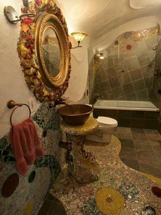 Mosaic tiles feature prominently in the house. Picture: Lori Farr.