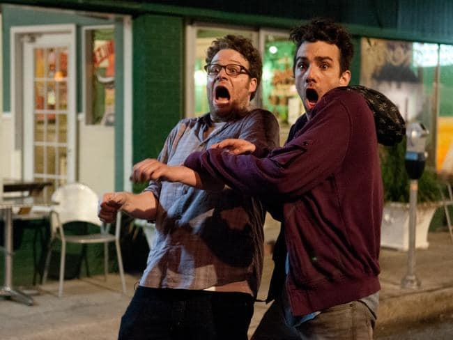 Seth Rogen and Jay Baruchel in  <i>This is the End</i>.
