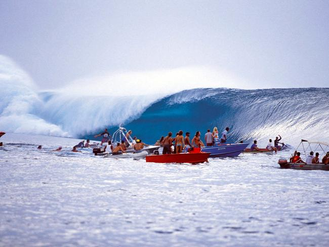 Teahupo'o is a favourite with spectator who can get up close to the action.