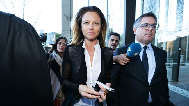 Bianca Rinehart at the Supreme Court of NSW for the first day of the court