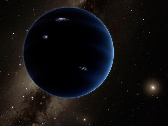 Edge of solar system ... This artistic rendering shows the distant view from Planet Nine back towards the sun. Picture: R. Hurt/AP