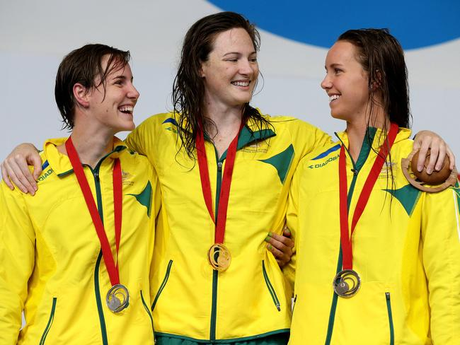 Cate and Bronte Campbell and Emma McKeon swept the 100m freestyle medals.