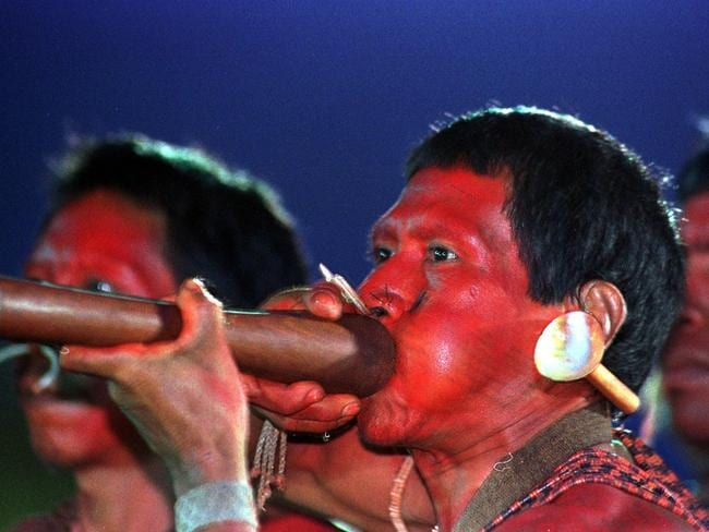 The Matis tribe of Brazil are injected with a frog poison to prove their strength.