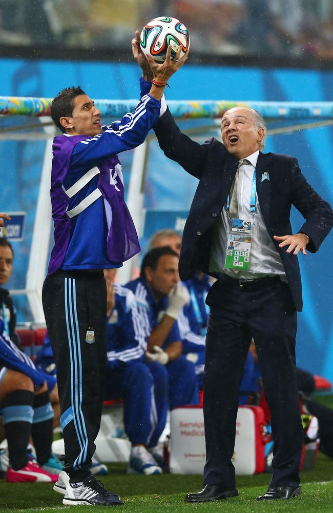 This face from Argentina coach Alejandro Sabella is easily the most intriguing thing that's happened so far.