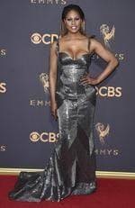 Laverne Cox arrives attends the 69th Annual Primetime Emmy Awards at Microsoft Theater on September 17, 2017 in Los Angeles. Picture: AP