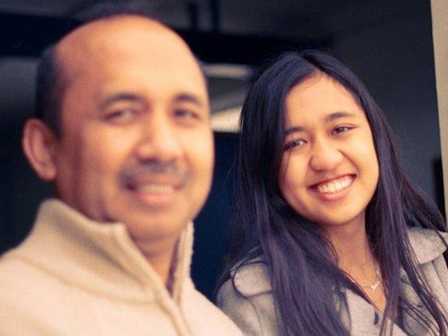 Daddy's girl ... Captain Zaharie Ahmad Shah and daughter Aishah Zaharie. Source: Facebook.