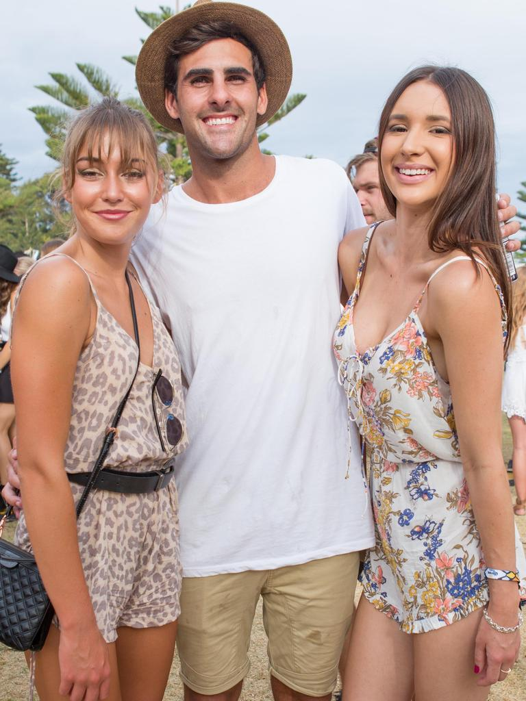 Laura Heshall, Ricky Fontanna, Annie Debney at the inaugural Corona SunSets Festival. Picture: Supplied