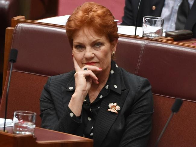 One Nation leader Pauline Hanson has publicly said Senator Culleton was difficult to work with. Picture: AAP Image/Mick Tsikas