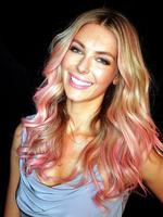<p>Mercedes Benz Fashion Festival 2012 at Sydney Town Hall. Jennifer Hawkins debuts pink highlights for the Bendon Lingerie show. Picture: Adam Ward</p>