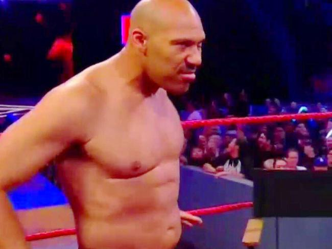 LaVar Ball in the WWE ring
