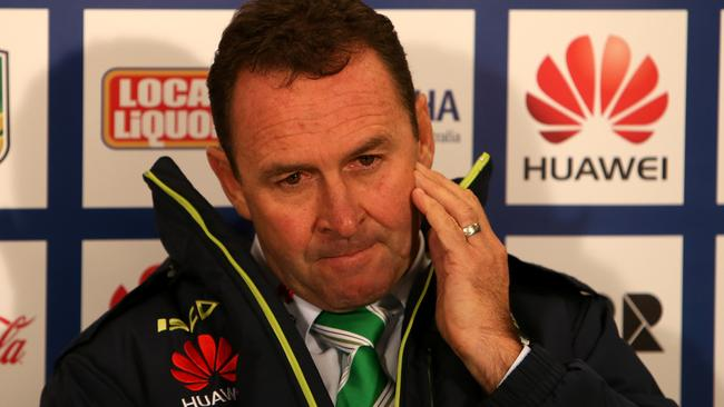 Raiders Coach Ricky Stuart says his side isn't up to first grade standard.