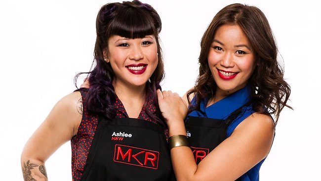 Ashlee and Sophia from My Kitchen Rules. Picture: Channel 7