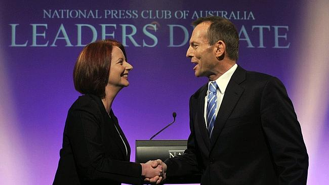 Praise ... Julia Gillard has congratulated Tony Abbott's government for continuing fundin