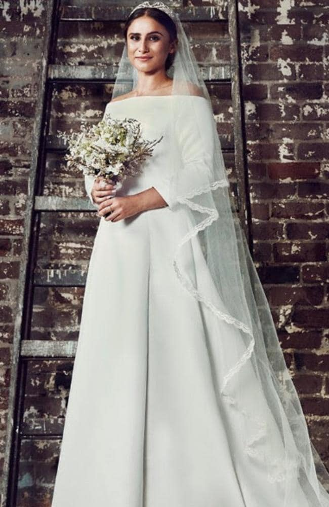 Meghan markle fashion world divide over royal wedding dress sydney seamstresses elizabeth alexandrou and tessa rankin have recreated meghan markles royal wedding dress worn by junglespirit Image collections