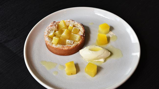 Sweet dreams are made of this .... pear, saffron and almond tart.