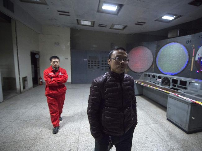 The facility was built under tough conditions. Picture: AFP/Wang Zhao