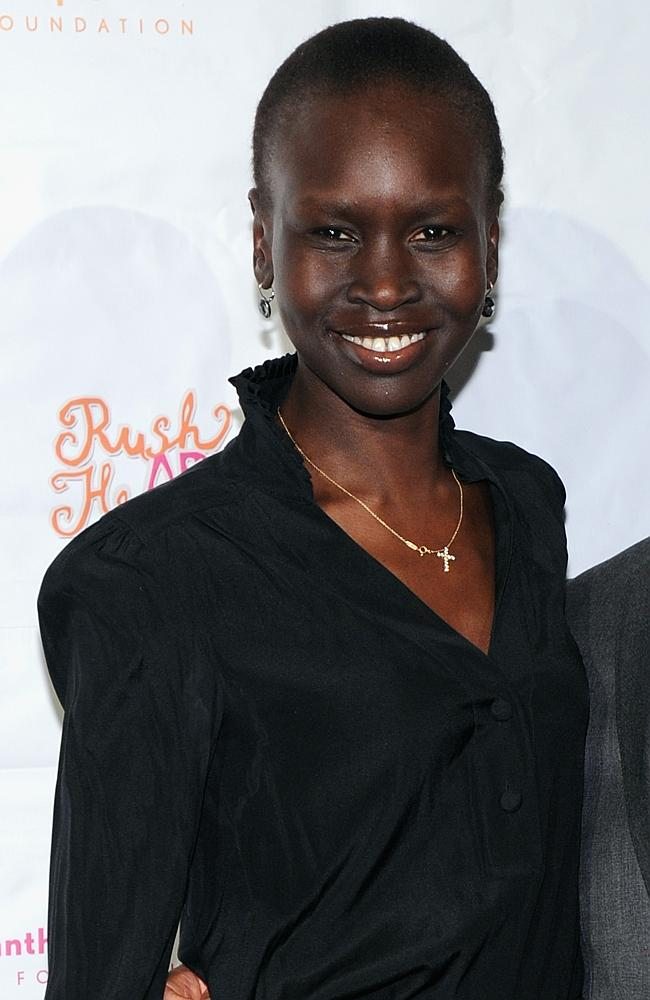 Model Alek Wek rose to prominence in the late '90s, providing a role model for dark-skinned girls like a young Lupita Nyong'o. Picture: Getty Images