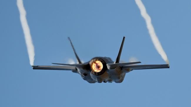 A Joint Strike Fighter F-35 flies during the Avalon Airshow on March 3, 2017 in Avalon, Australia. Technical hurdles remain to be solved before the type is fully combat capable. Picture: Getty