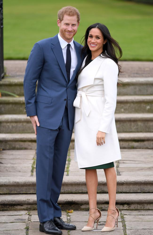 Prince Harry and Meghan Markle's official engagement photo, above, set off Markle mania around the world. Picture: Karwai Tang.