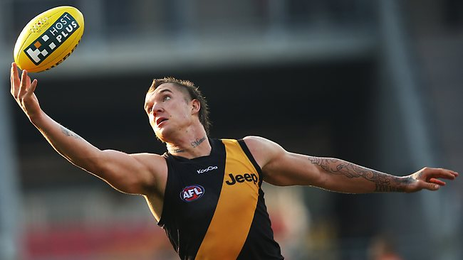 Richmond star Dustin Martin in action against Greater Western Sydney. Picture: Phil Hillyard