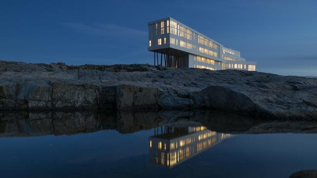 The Fogo Island Inn's striking exterior.