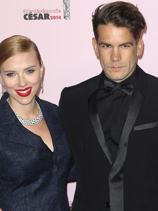 Scarlett Johansson and Romain Dauriac will open their popcorn shop on Saturday. Picture: Getty