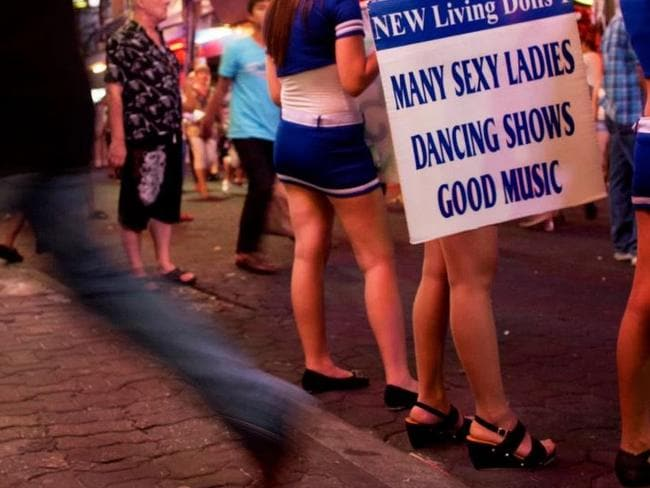 Raunchy scene ... Women are readily available on the streets. Picture: Getty.