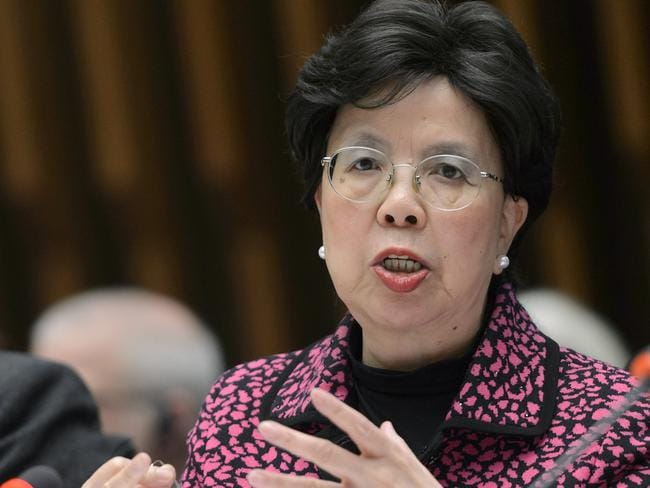 Official concern ... Margaret Chan, General Director of the World Health Organisation, talks about the Zika virus during a meeting in Geneva. Picture: Martial Trezzini/AP
