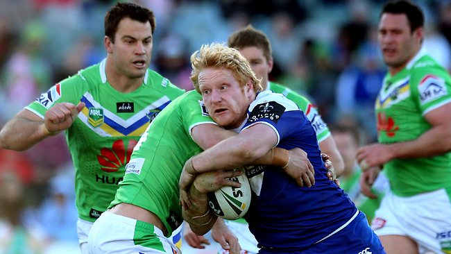 Bulldogs prop James graham has been omitted for England's Rugby League World Cup opener against Australia in Cardiff. Picture: Kym Smith