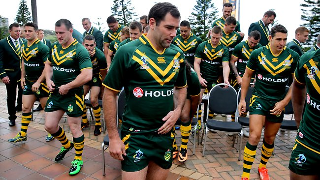 Kangaroos team photo ahead of Rugby League World Cup. Picture Gregg Porteous