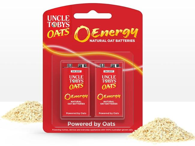 The UNCLE TOBY'S Oat Batteries for April Fool's Day. Picture: Supplied