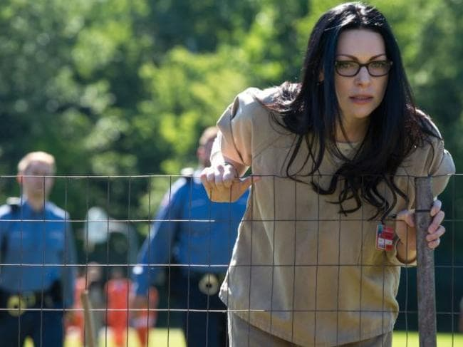 Alive ... Alex (Laura Prepon) at least appears to have survived a potential attack. Picture: Netflix