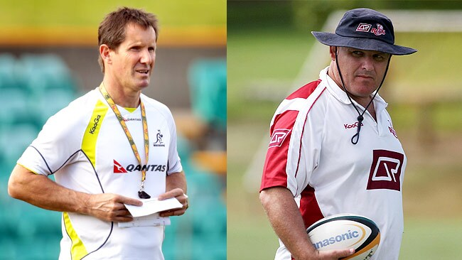 Robbie Deans and Ewen McKenzie